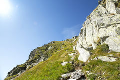 Nature Mountain Landscape in Carpathian Mountains Stock Image