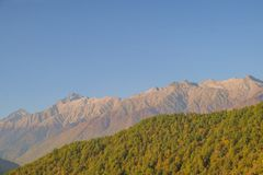 Nature and mountain landscapes of Sochi and Rosa Khutor mountain resort royalty free stock photos