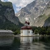 Nature, Mountain, Mountainous Landforms, Lake Stock Photo