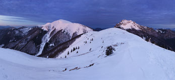 Nature Mountain peak at night - Slovakia, panorama Stock Image