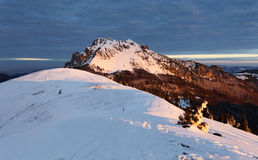Nature Mountain peak at winter - Slovakia, panorama Stock Photo