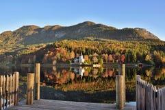 Nature, Mountainous Landforms, Reflection, Mountain royalty free stock photography