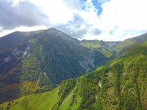 Nature of mountains-10. The Darial Pass was historically important as one of only two crossings of the Caucasus mountain range, the other being the Derbent Pass Stock Photo