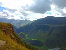 Nature of mountains-11. The Darial Pass was historically important as one of only two crossings of the Caucasus mountain range, the other being the Derbent Pass Royalty Free Stock Image