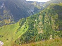 Nature of mountains-14. The Darial Pass was historically important as one of only two crossings of the Caucasus mountain range, the other being the Derbent Pass Royalty Free Stock Images