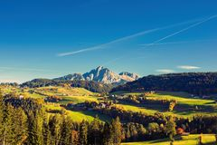 Nature and mountains of the surroundings of Merano in the province of Bolzano late autumn. Italy. Nature and mountains of the surroundings of Merano in the royalty free stock photos