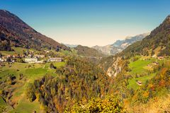 Nature and mountains of the surroundings of Merano in the province of Bolzano late autumn. Italy. Nature and mountains of the surroundings of Merano in the royalty free stock photo