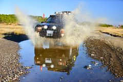 Off road passion with off-road vehicle Royalty Free Stock Images
