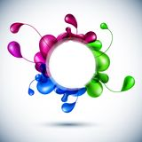 Nature multicolor background. Vector illustration of nature multicolor backdrop Royalty Free Stock Images