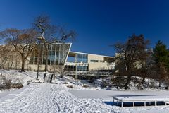 Nature Museum. This is a Winter picture of the Westside of the Peggy Notebaert Nature Museum-The Museum of the Chicago Academy of Science located in the Lincoln Stock Photo