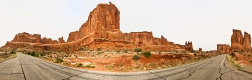 Nature National Park, Utah. The landscape and rocks. Roads and p royalty free stock photography