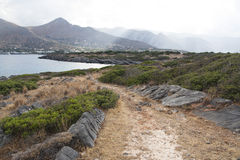 Nature near the town of Elounda Royalty Free Stock Image