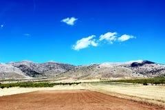 nature normale de montagnes d'horizontal d'Almeria Andalousie cabo de desert gata d'agave près d'Espagnol de centrale de stationn Photographie stock