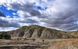nature normale de montagnes d'horizontal d'Almeria Andalousie cabo de desert gata d'agave près d'Espagnol de centrale de stationn Photo libre de droits