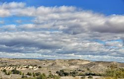 nature normale de montagnes d'horizontal d'Almeria Andalousie cabo de desert gata d'agave près d'Espagnol de centrale de stationn Photos libres de droits
