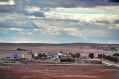 nature normale de montagnes d'horizontal d'Almeria Andalousie cabo de desert gata d'agave près d'Espagnol de centrale de stationn Images stock