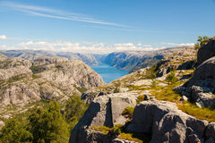 Nature of Norway - fjord view Stock Image