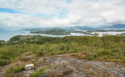 Nature Norwegian fjord landscape and surrounding islands royalty free stock image