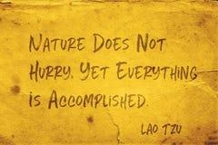 Nature not hurry Lao Tzu stock photo