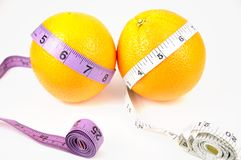 Nature orange with measuring line Stock Photos