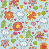 Nature ornate floral seamless pattern Royalty Free Stock Images