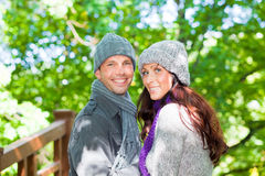 Nature outdoor couple Stock Photography