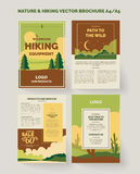 Nature and outdoors brochure and flyer design Stock Image