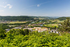 Nature overlook with rivers in Switzerland Royalty Free Stock Images