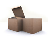 Nature paper Box on white background Stock Image