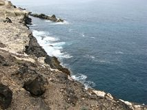 Nature park Ajuy on Fuerteventura Stock Image