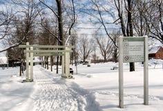 Nature-Park Cap-Saint-Jacques. The nature park of Cap-Saint-Jacques is a large park of Montreal located on both sides of the Rivière des Prairies.Quebec royalty free stock photos