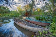 Nature park Hutovo Blato, Bosnia and Herzegovina. Boats at nature park Hutovo Blato, Bosnia and Herzegovina stock image