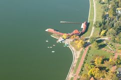 Nature Park Palic - aerial view Royalty Free Stock Photography