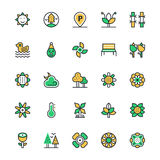 Nature, Park Vector Icons 4 Royalty Free Stock Images
