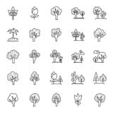 Nature, Parks and Trees Isolated Vector Icons Set that can be easily modified and Edit in any Size or Color stock illustration
