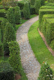 Nature path through in the garden Royalty Free Stock Photo