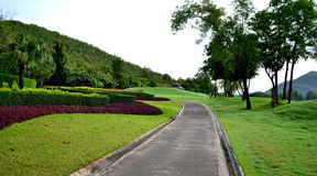 Nature path with resort Stock Images
