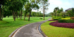 Nature path with resort Royalty Free Stock Photos