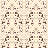 Nature pattern. Vector delicate seamless background with flowers and leaves Stock Illustration