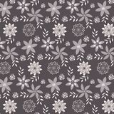 Nature pattern background with floral elements. Vector illustration Royalty Free Stock Photo