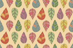 Nature pattern. Funny autumn seamless vector leaf texture Royalty Free Stock Photography
