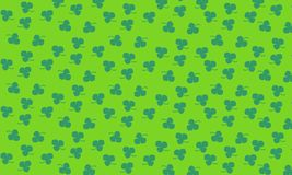 Nature pattern. With green clover  background Royalty Free Stock Photography