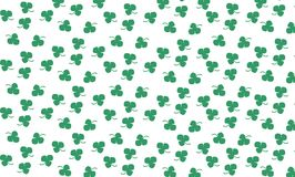 Nature pattern. With green clover  background Stock Images