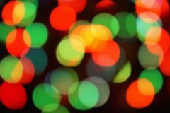 Nature light background- bokeh christmas. Illuminated decor. Nature pattern- light bokeh background. Celebratory mood magic effect. Decorations holiday- design Stock Images