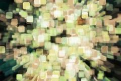 Nature light background- bokeh christmas. Illuminated decor. Nature pattern- light bokeh background. Celebratory mood magic effect. Decorations holiday- design Stock Photography