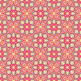 Nature pattern with pink flowers Royalty Free Stock Images