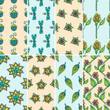 Nature pattern set Royalty Free Stock Image