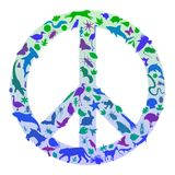 Nature peace sign Royalty Free Stock Image