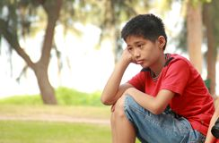 Nature, Person, Sitting, Boy Stock Photography