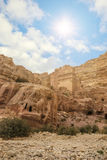 Nature of Petra, Jordan. Petra is one the New Seven Wonders of t Royalty Free Stock Photo